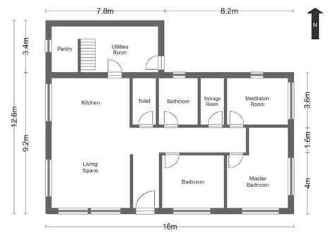 house floor plan with measurements simple floor plans measurements house home plans