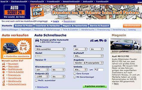 mobile de 24 auto recherche mobile de und autoscout24 de gr 252 ner fahren
