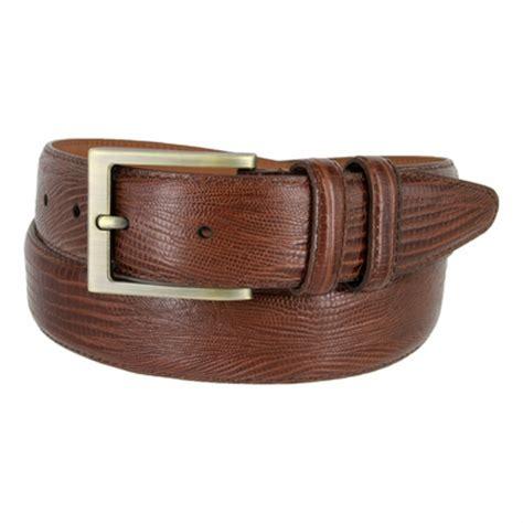 1304 s lizard embossed leather dress belt 1 3 8 quot wide