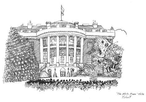 white house drawing the white house drawing