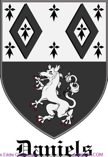 Daniels coat of arms, Daniels family crest, Daniels