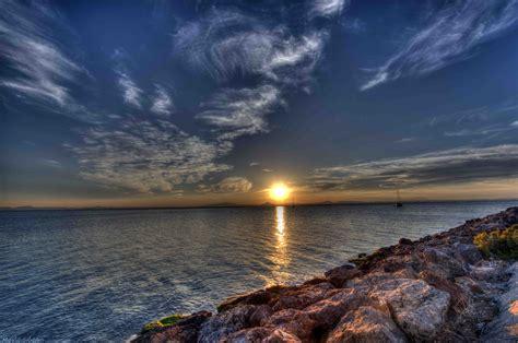 imagenes hdr con photoshop atardecer sobre la manga del mar menor sunset on sleeve