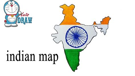 India Drawing Images how to draw indian map step by step easy