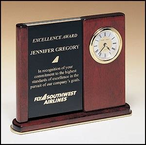 cchmc it help desk bc3 rosewood desk clock with duo engraving plates