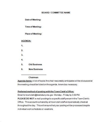 notice of meeting template 15 free word excel pdf