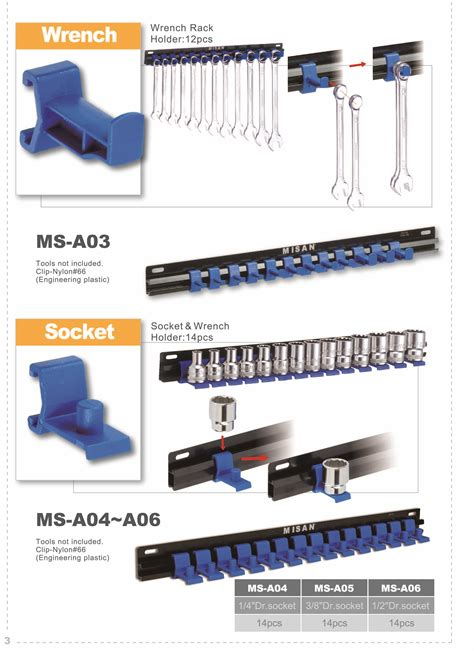 Plastic Hook Rack by Wrench Rack Plastic Hook Ms A03