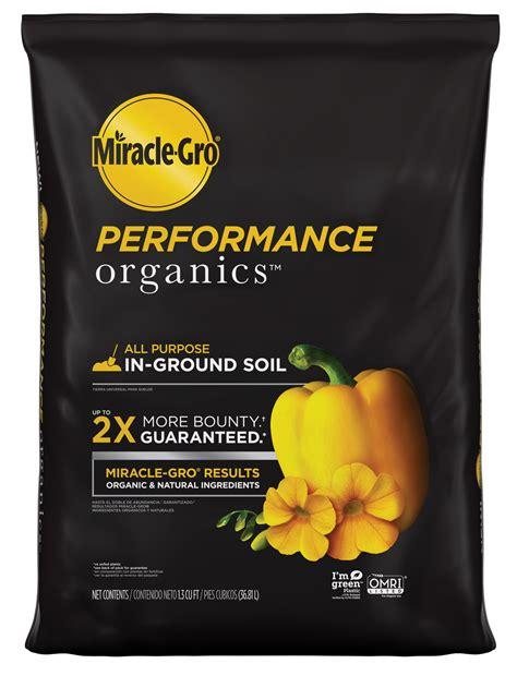 miracle gro performance organics  purpose  ground