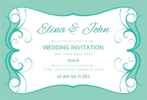 Wedding Invitation Vector by Wedding Card Invitation Vector Free Vector