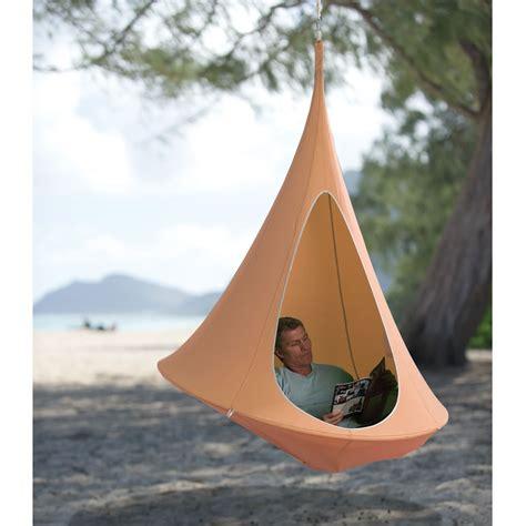 Hammock Tent Canada The Hanging Cocoon Hammacher Schlemmer