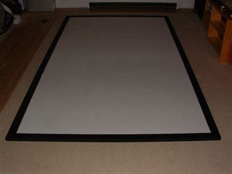 diy projection screen material completed diy projector screen creating something with