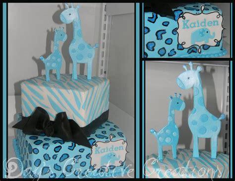 Blue Safari Baby Shower Cake by Blue Safari Baby Shower Cake Boy Baby Shower