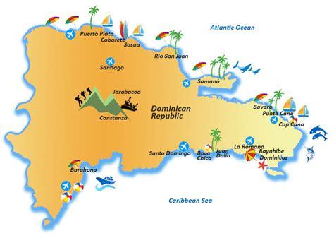 mapa de republica dominicana republica dominicana turismo mapa
