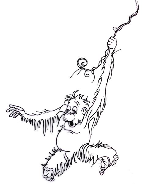 how to draw a swinging monkey image gallery monkey drawing swinging
