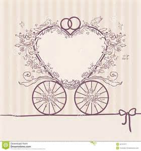 wedding design templates wedding invitation coach design template stock vector