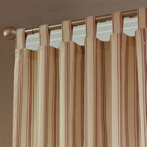 tab top drapes weathermate stripe thermalogic tm tab top curtains