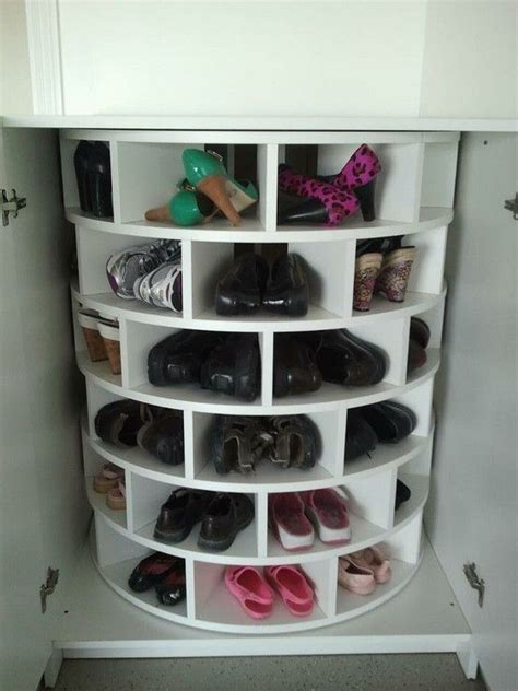 diy lazy susan shoe rack shoe lazy susan for the home lazy susan