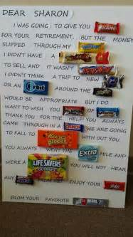 Retirement candy thank you
