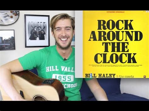 rock around the clock 3 chord song easy guitar lesson tutorial