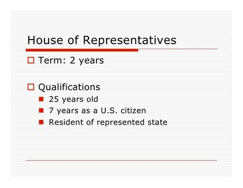house of representatives term length congress powerpoint