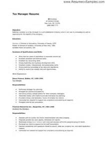 Tax Manager Sle Resume by Pin Pin Sle Resume High School Student On On
