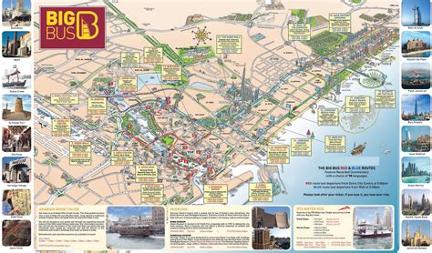 large detailed tourist map  dubai dubai large detailed