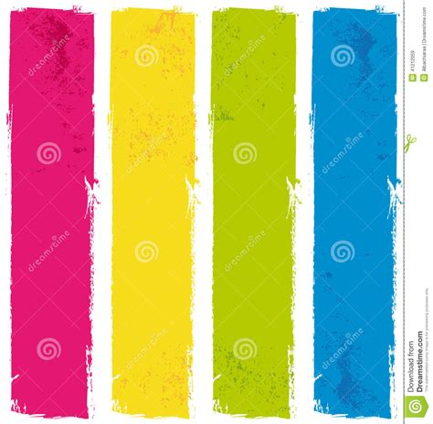 color paint banners stock vector image of business 41212059