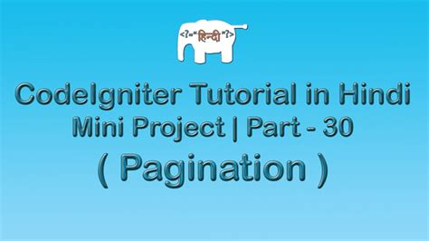 laravel video tutorial in hindi codeigniter project tutorial in hindi urudu pagination