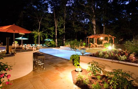 backyard entertainment designs backyard pool entertainment area potomac md
