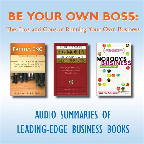 Pros And Cons Of Mba Degree by Be Your Own Audiobook Other Listen Instantly