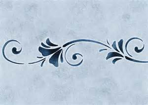 stencils border floral breeze stencilease com