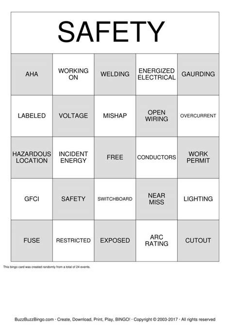 safety bingo cards to download print and customize safety bingo cards to download print and customize