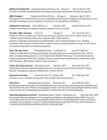 exle experience for a sequential resume