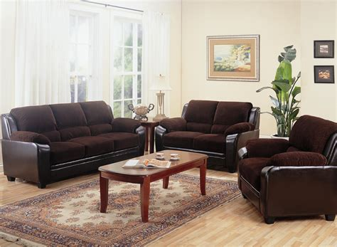 chocolate living room set monika two toned dark brown corduroy casual living room