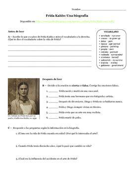 frida kahlo biography book pdf frida kahlo una biograf 237 a preterite imperfect spanish