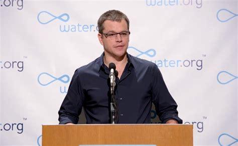 matt damon charity water matt damon takes to to promote his water org charity