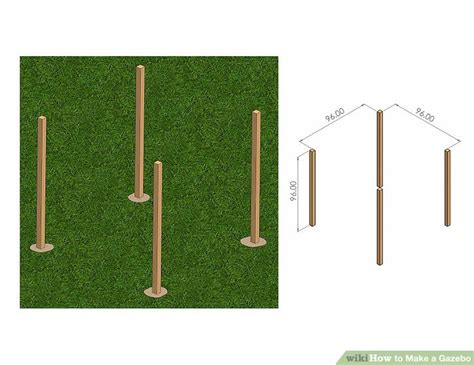 gazebo smontabile how to make a gazebo 13 steps with pictures wikihow