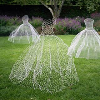 chicken wire ball gown ghost halloween decor pinterest