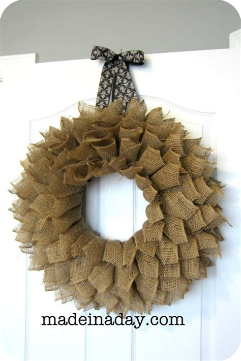 how to make a wreath with burlap burlap wreath tutorial brown sugar toast