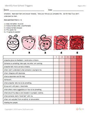 printable stress quiz for college students helping kids identify their school stress triggers