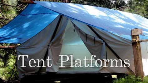building a tent platform tent platforms youtube