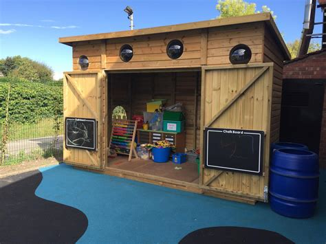 alsager highfields early years outdoor classroom pentagon play