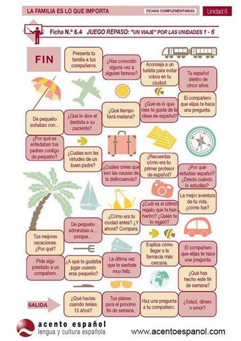 preguntas en ingles y español personales juego nivel b1 juegos de mesa pinterest juego
