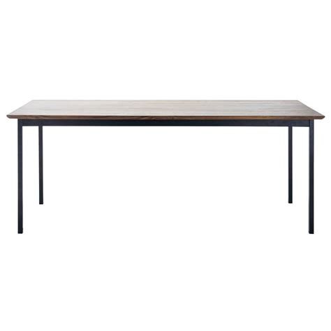 Dining Table Metal Solid Walnut And Metal Dining Table W 200cm Berkley Maisons Du Monde