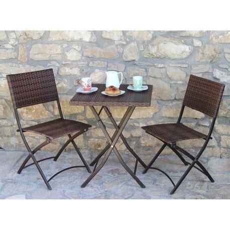 tavolo da giardino rattan tavolo da giardino in polirattan 2 sedie pieghevoli