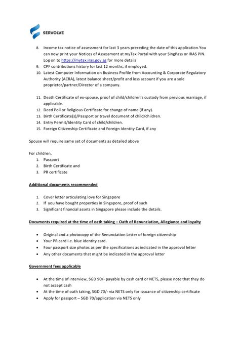 Employment Letter In Singapore Servolve Singapore Citizenship Guide