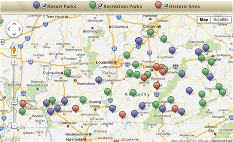 Kentucky State Parks Map kentucky parks get early start on 2012 season woodall s