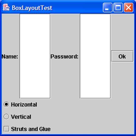 struts layout box layout adding struts layout 171 swing jfc 171 java