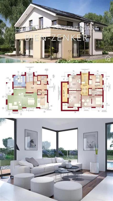 einfamilienhaus modern bauen fertighaus grundriss mit