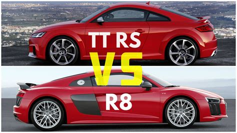 Audi Tt Vs Audi Tts by 2017 Audi Tt Rs Coupe Vs Audi R8 V10 Plus Youtube