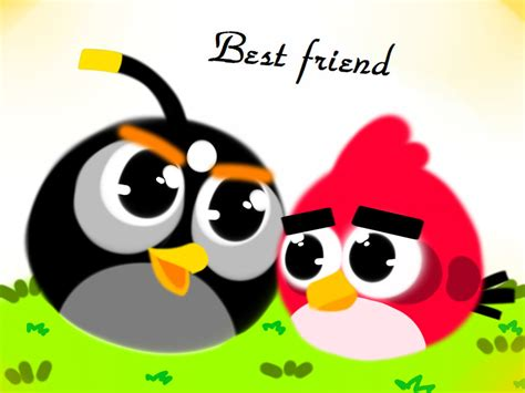 angry birds best angry birds best friend wallpaper by emily the wolf on